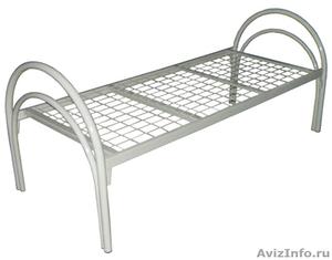 кровати металлические, кровати одноярусные и двухъярусные для турбаз, общежитий - Изображение #1, Объявление #695598