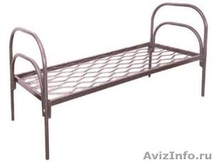 кровати металлические, кровати одноярусные и двухъярусные для турбаз, общежитий - Изображение #2, Объявление #695598