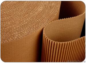 Двухслойный гофрированный картон в рулоне 10м  - Изображение #1, Объявление #1384705