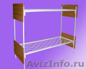 Кровати железные одноярусные для санаториев, кровати с ДСП спинкой - Изображение #4, Объявление #1478863