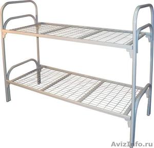 Кровати железные одноярусные для санаториев, кровати с ДСП спинкой - Изображение #5, Объявление #1478863