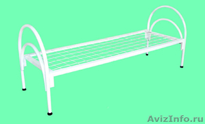 Кровати железные одноярусные для санаториев, кровати для рабочих. оптом. - Изображение #2, Объявление #1479833