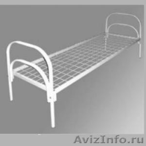 Кровати железные одноярусные для санаториев, кровати с ДСП спинкой - Изображение #2, Объявление #1478863