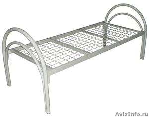 Кровати железные одноярусные для санаториев, кровати для рабочих. оптом. - Изображение #1, Объявление #1479833