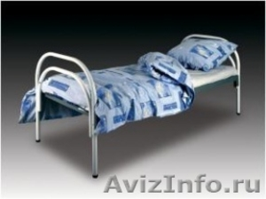Кровати железные одноярусные для санаториев, кровати с ДСП спинкой - Изображение #3, Объявление #1478863
