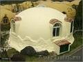 Купольный дом из твердого пенополистирола