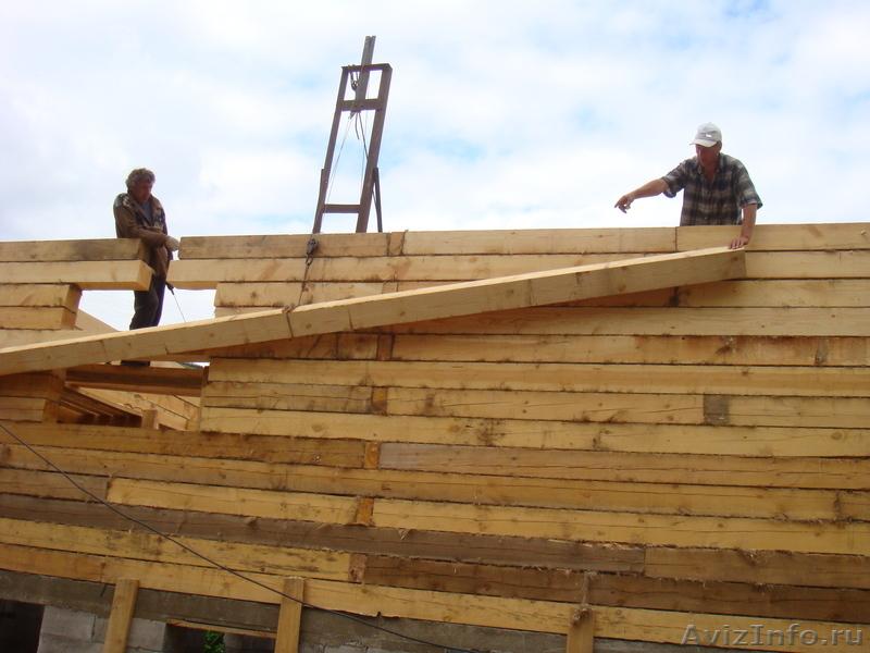 Строим дом из бруса своими руками от фундамента до крыши фото 39